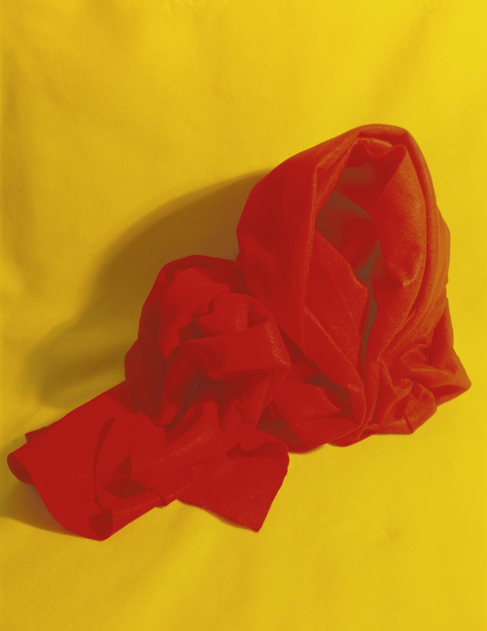 IX (Red and Yellow   Fold), C-Print,22 x 17, 2011