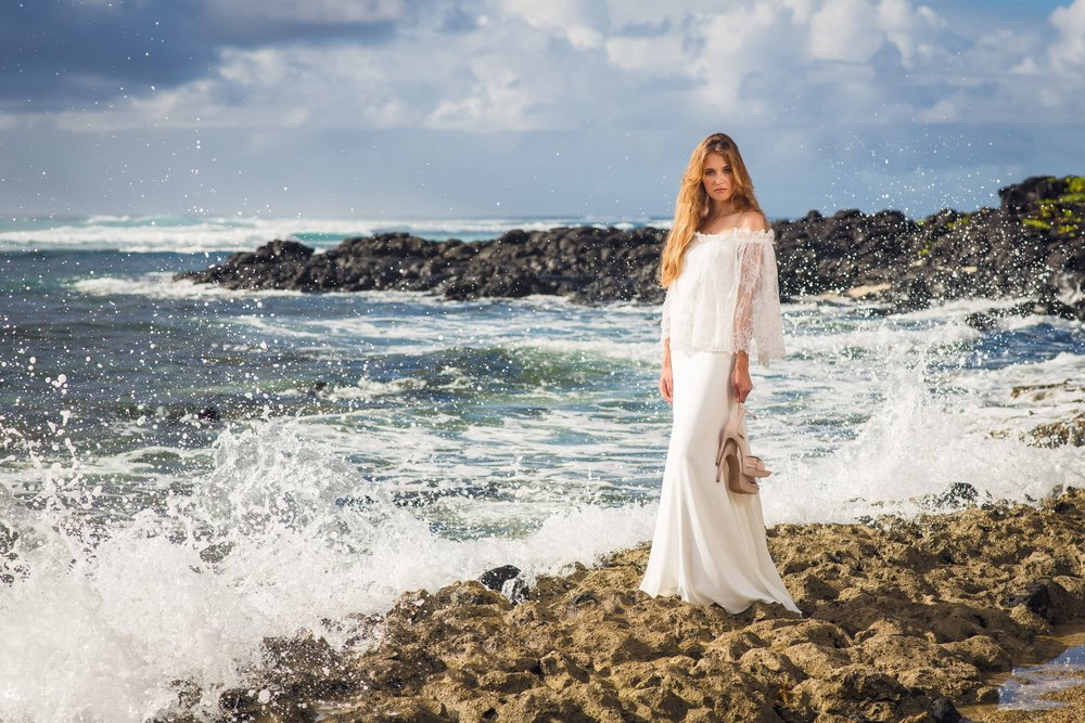 On the rocks - Dawn photoshoot session at Roches Noires