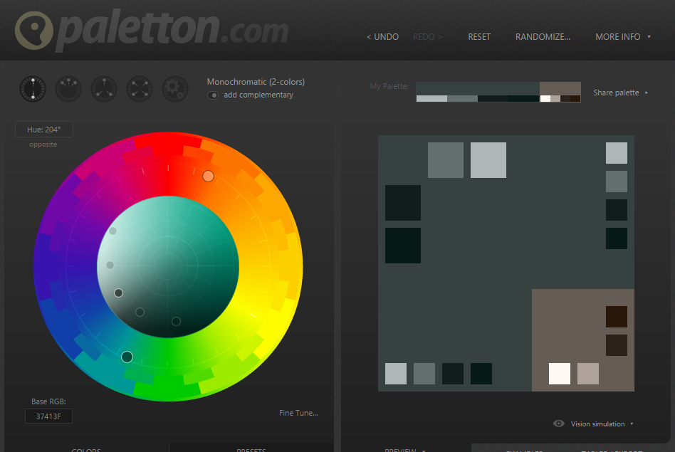 Use Paletton dot com to create beautiful color palettes!