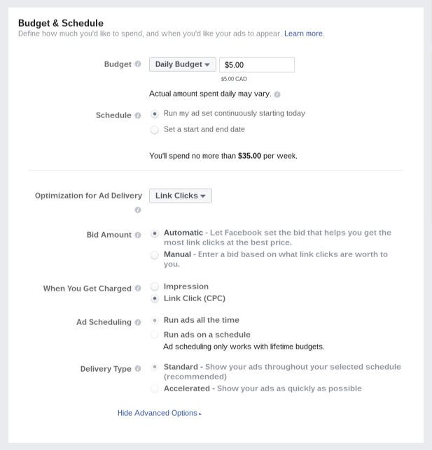 Budgeting and Scheduling Your Campaign With Facebook Ads