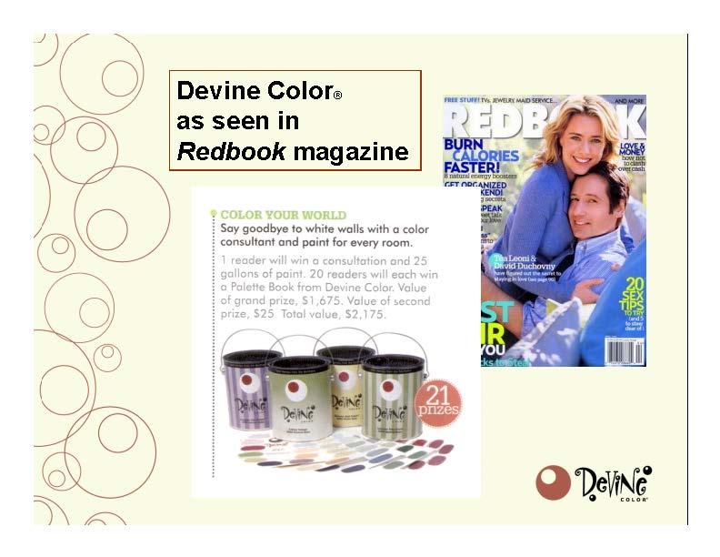 Devine Color In Redbook Magazine