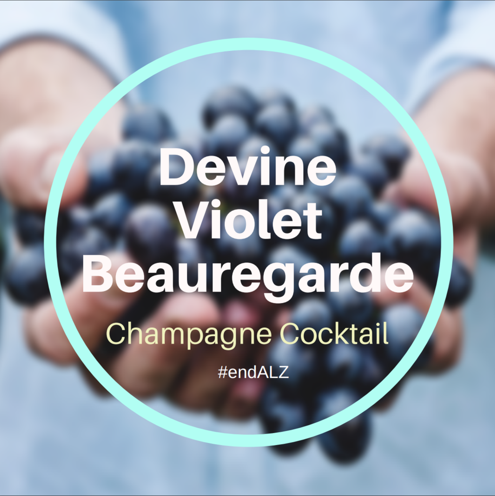 Devine Violet Beauregarde Cocktail #endALZ