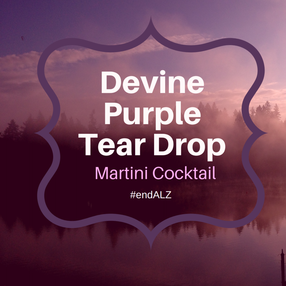 Devine Purple Teardrop Martini