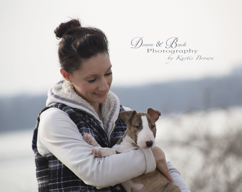 "Sam pictured with Delicious Baby It's Cold Outside ""Ginger"" at 2 Months of age.  *Photo Credit Down & Back Photography"