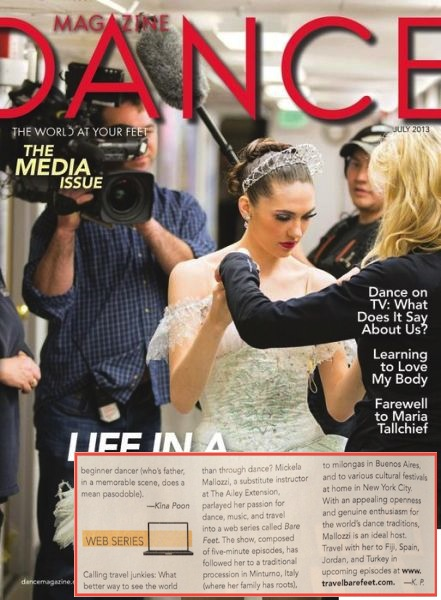 Dance Magazine cover July 2013 copy