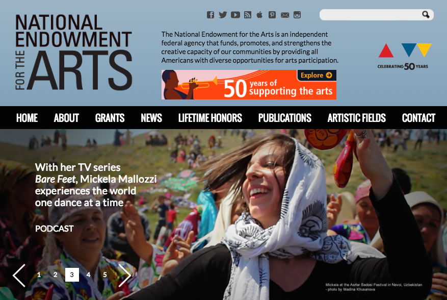 "Listen to Mickela's interview on the National Endowment for the Arts ""Art Works"" Podcast!"