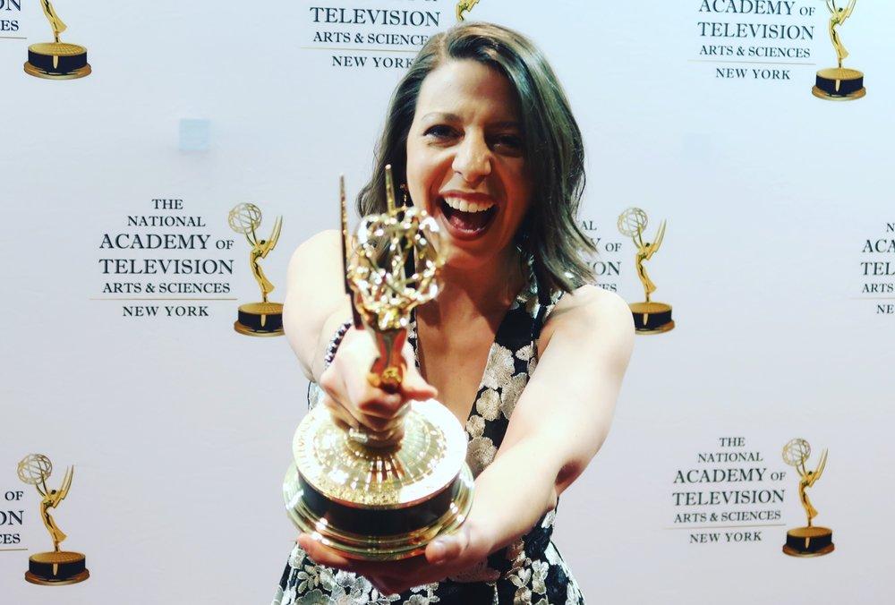 Mickela Mallozzi NY Emmy Awards 2018 01.JPG