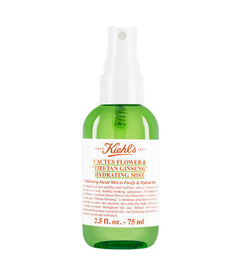FOR THE FLIGHT - Kiehl's Cactus Flower Tibetan Ginseng Hydrating Mist ($17)