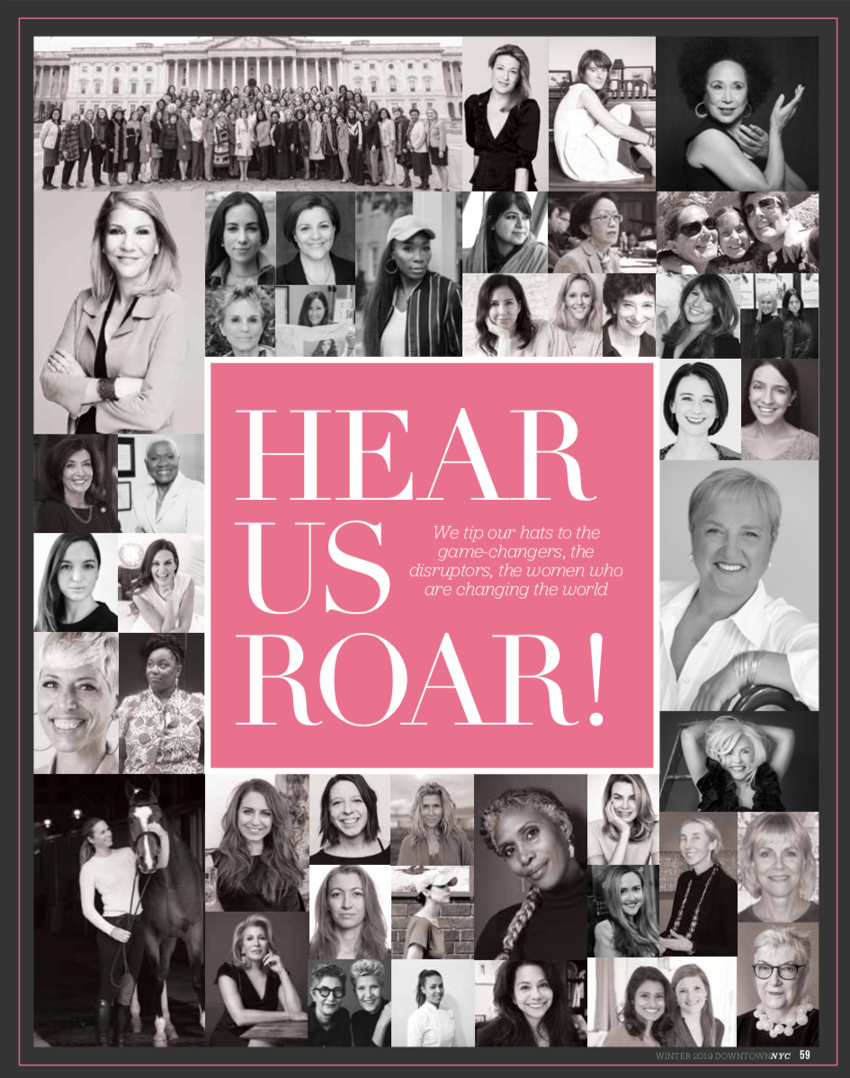 Mickela is featured as one of the 50 Women Changing The World in the Spring 2019 issue of Downtown Magazine NYC!