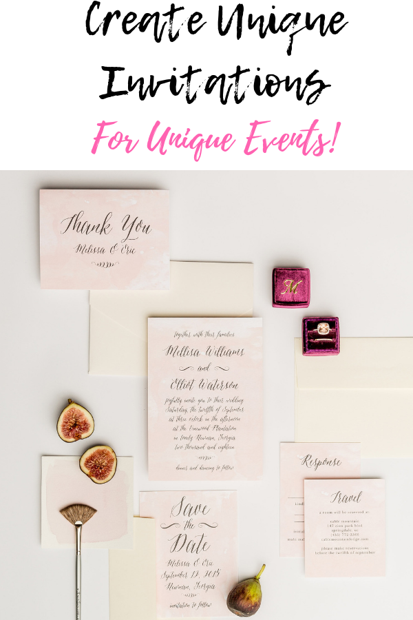 Create Unique Invitations For Unique Events!.png