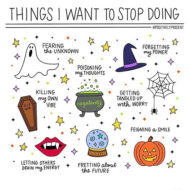 "Halloween is my favorite time of the year! October is truly the best month ever. This post from @positivelypresent hits home so hard today. I've been letting my mean brain and my anxious mind take over lately and it's knocked me off balance and turned me into a pretty awful person to be around. 🤣Sorry Husband! 🙈Today, I take back my power. I trust myself and have faith in my body and mind. It's so easy to get caught up in what everyone else is doing and not feeling like you don't add up, but I'm here to tell you that's not true. You do add up. Your purpose matters, you're doing just fine, and it's all going to be okay. When you get really anxious or stressed say this out loud to yourself, wherever you are: ""I'm alright right now."" ❤️Those 4-little words right now can take me from 60-0 in seconds. And whatever you do, don't get tangled up in worry. It's never worth it. Do your thing, and stay in your magic baby, you've got this! 💪🏽💫🌈Happy Halloween my ghoulish Friends! 🎃 . . . . . . #mentalhealthawareness #mentalhealth #anxiety #anxietyrelief #documentyourdays #holdyourmoments #simpleliving #mybeautifulmess #kindredmemories #mytinymoments #inbeautyandchaos #livethelittlethings #communityovercompetition #thatsdarling #thedarlingmovement #darlingweekend #thehappynow #pursuepretty #wadeleurspark #flashesofdelight #petitejoys #livecolorfully #morningslikethese #theblogissue #finditliveit #prettylittlething #humaneeffect #slowliving"
