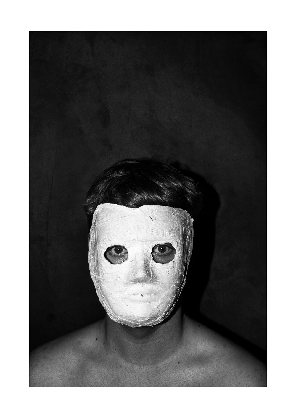 I'll See You Anon - In this self portrait series I assume the performative role of a white-masked figure, manifestation of numerous inner demons and photograph myself in an array of different environments and scenarios.