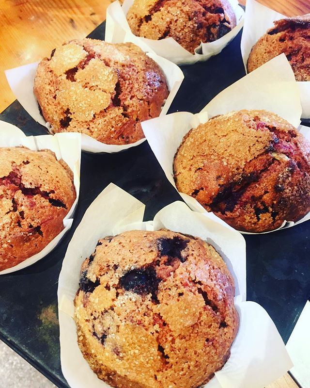 I don't normally post muffin photos, but DAYUM these babies look good! Beetroot, cacao, almond and blueberry! #youcantbeetaroot 👌🏾😱 @milkbarbrunswickheads
