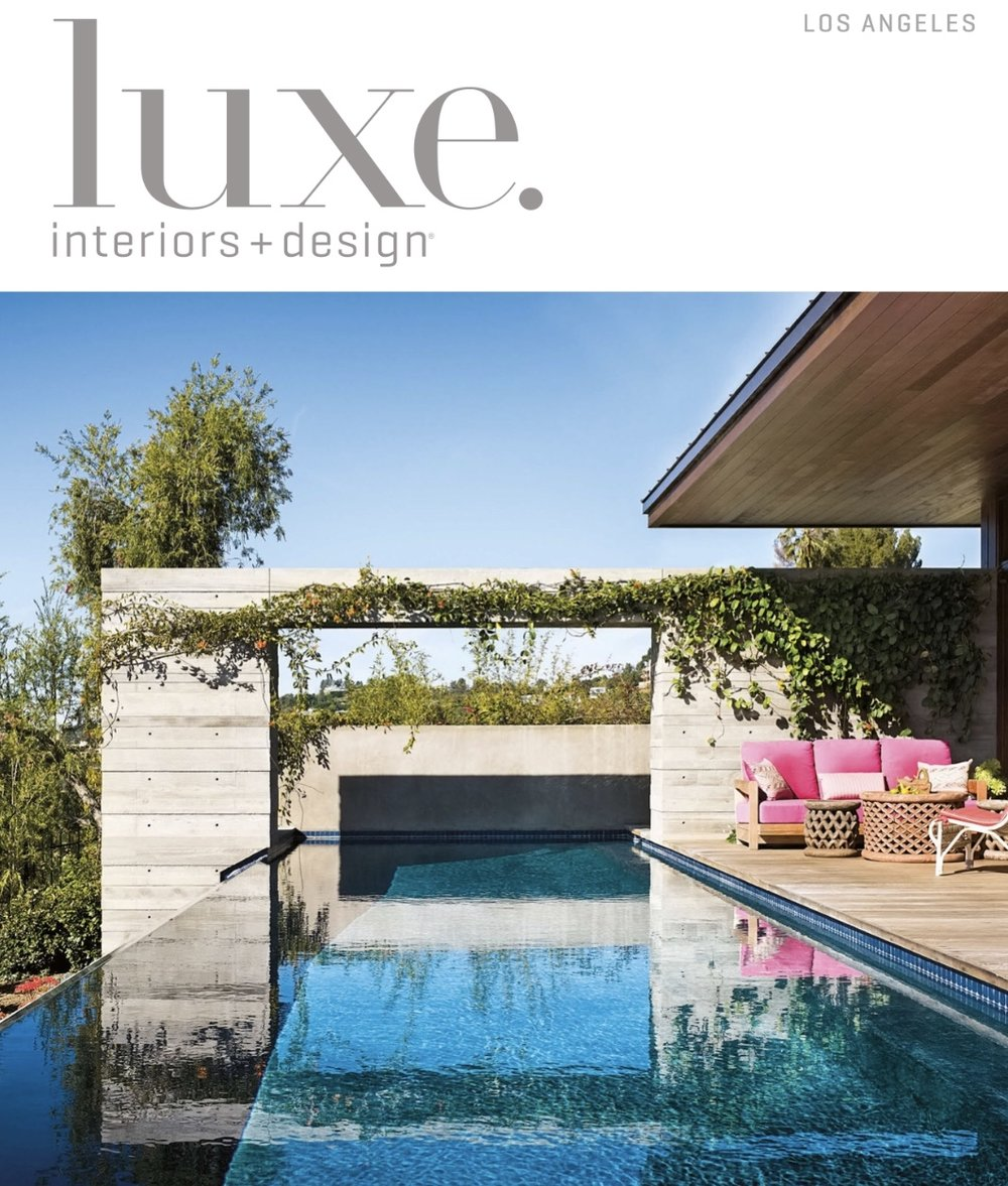 Luxe Magazine - Issue 43    Interior Architecture & Design:  Barta Interiors  Photography:  Laure Joliet   Architecture:  Philip Vertoch, Vertoch Design Architects   Builder:  Garnik Badalyans, Taltech Construction, Inc.               Landscape Design:  Randon Garver, Randon Garver Estate Gardens