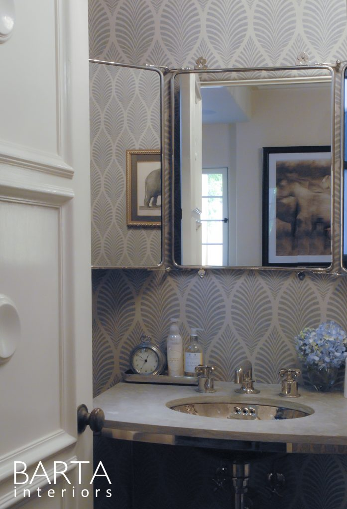 BARTA INTERIORS - SPANISH RENOVATION - POWDER ROOM