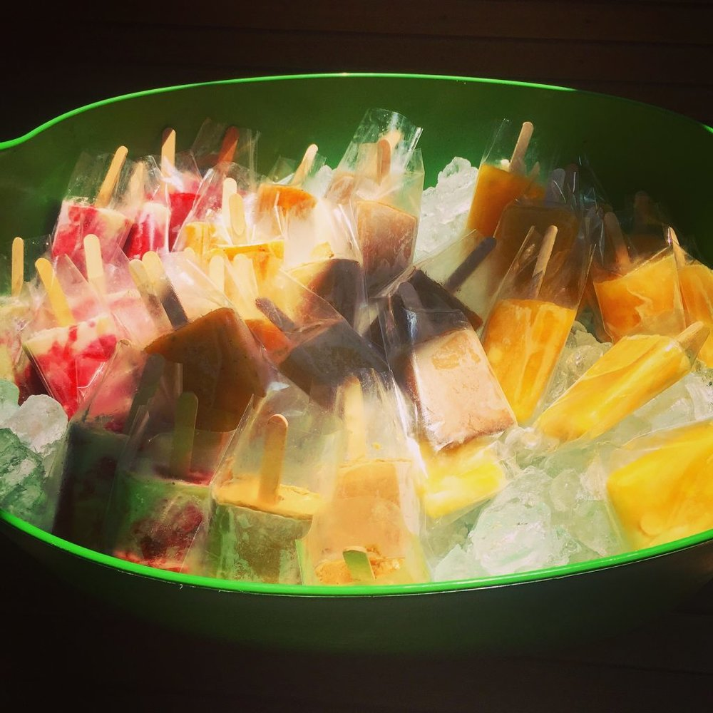 Bucket of paletas I ordered for the party! These were a hit!