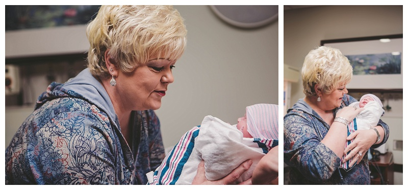 Cody's mom holding her 2nd Grandson