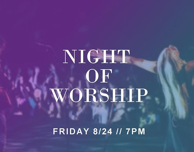 This Friday at 7pm we have an upcoming Night of Worship! We're expecting some great things as we enjoy the Father's presence together. Hope to see you there! 😁 // #puregracechurch #worshipnight