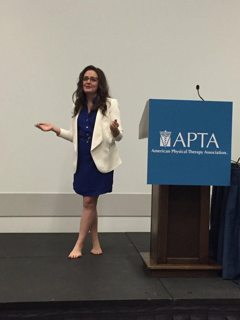 Erin speaks at APTA CSM in Anaheim, CA