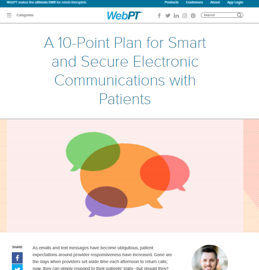webpt hipaa connor jackson privacy patients physical therapy lawyer