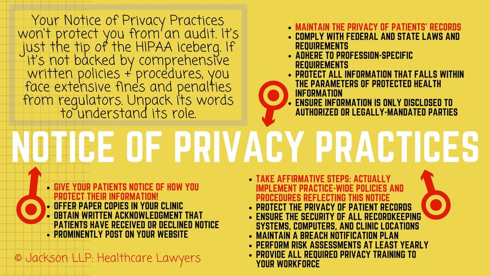 Notice of Privacy Practices new practice physical therapy healthcare lawyer sample example