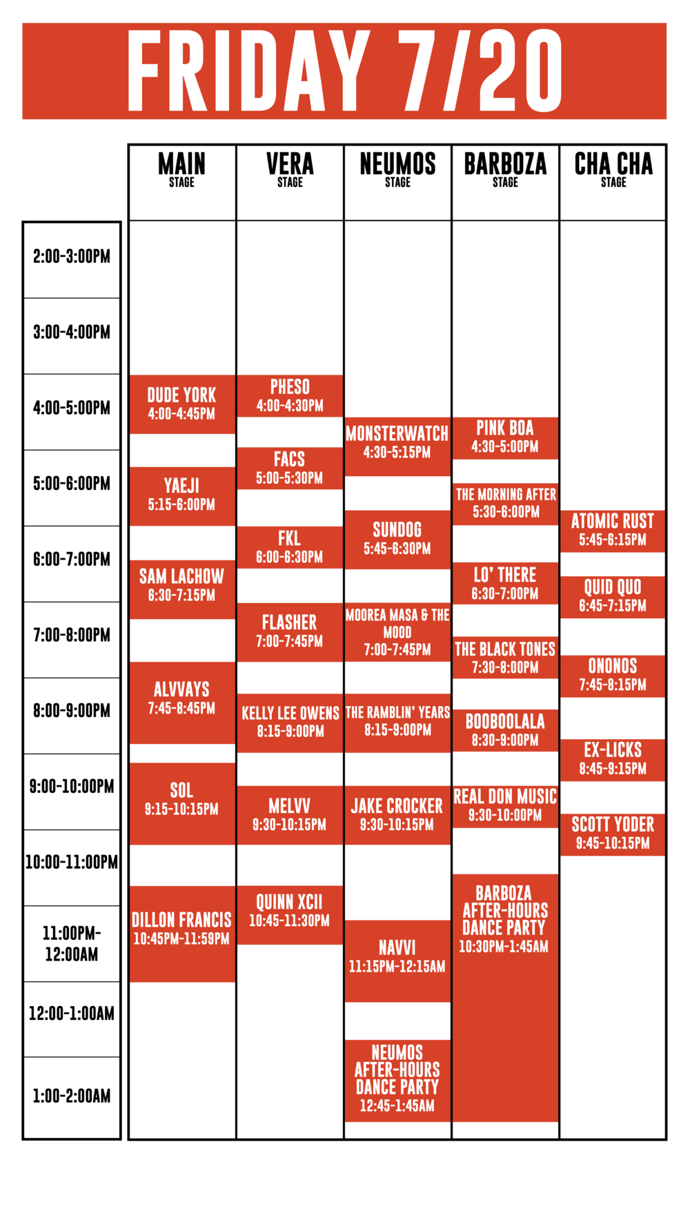 Schedule Capitol Hill Block Party