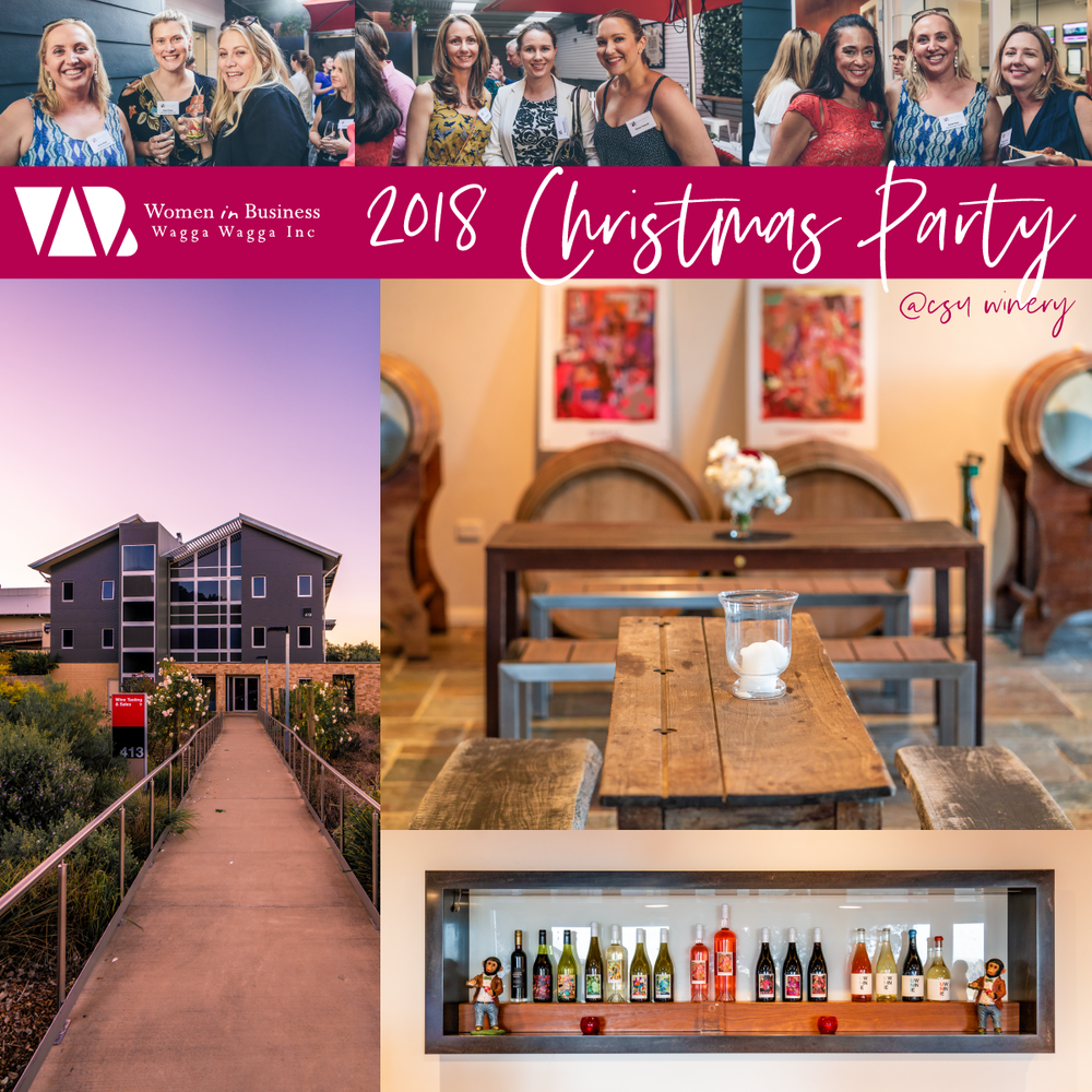WiB Wagga 2018 Christmas Party - @ CSU Winery, Wagga WaggaWhat better way to celebrate the end of 2018 than with wine, delicious food, music and a group of wonderful women!