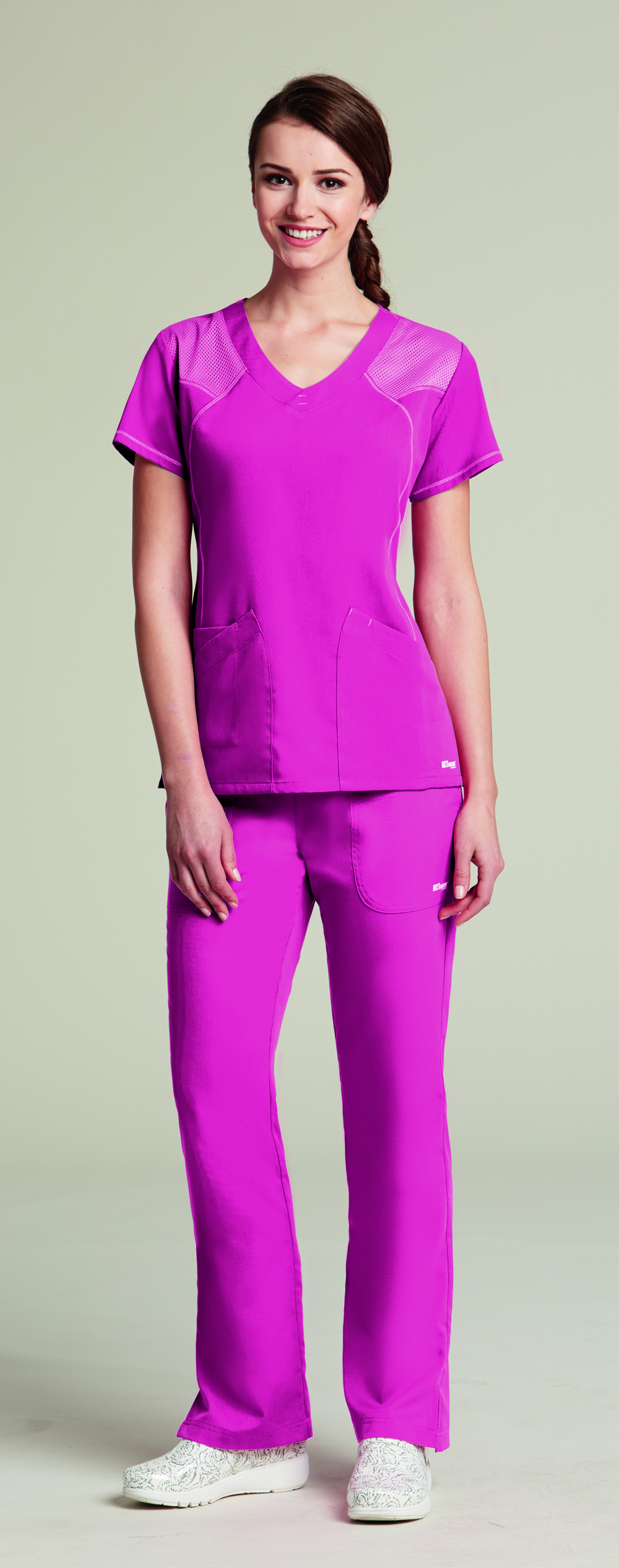 Grey\'s Anatomy Active 41440 Two Pocket Scrub Top with Mesh Details ...