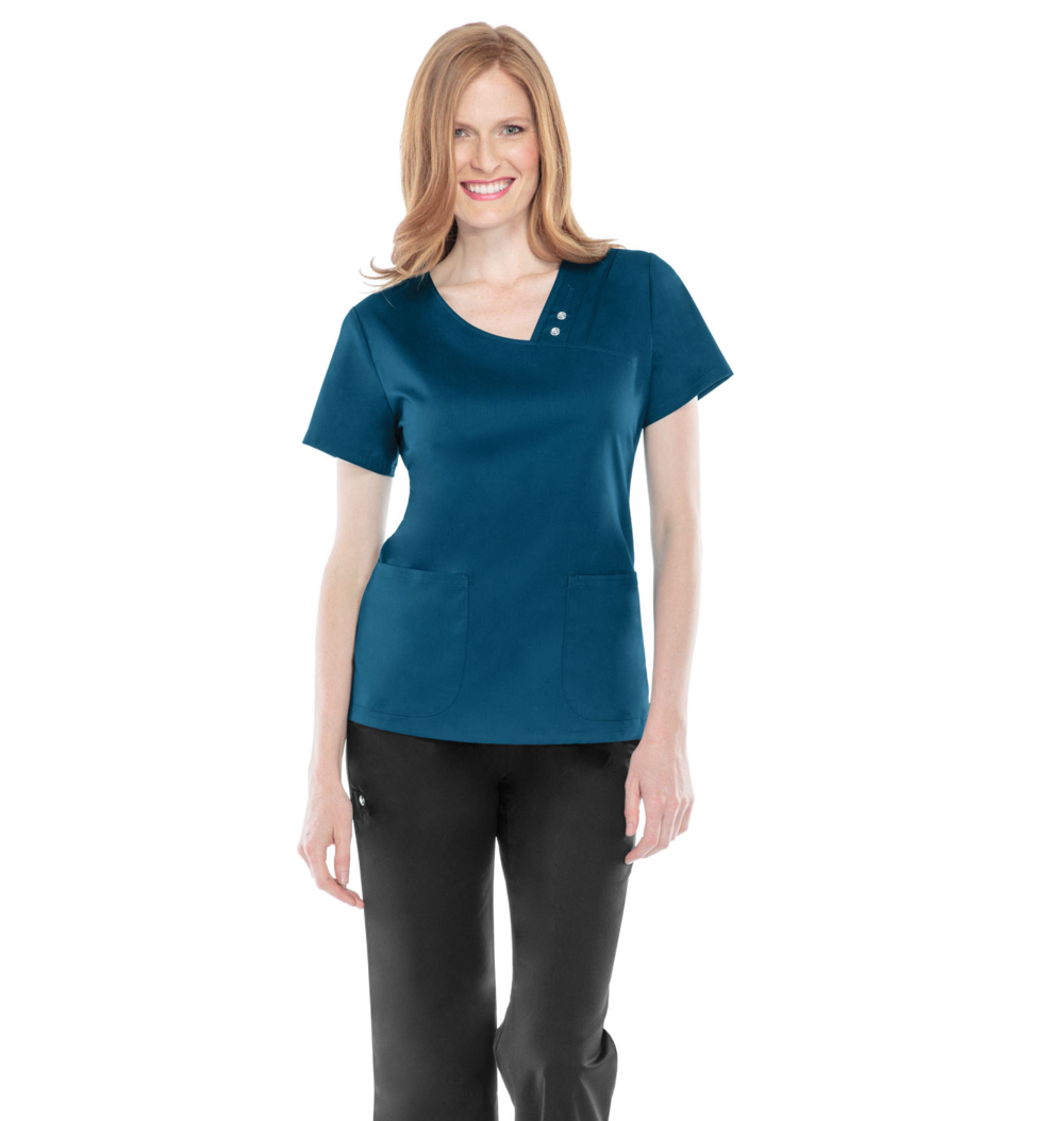 a78dc13b027 Cherokee Luxe 1999 V Neck Scrub Top with Jewel Detail
