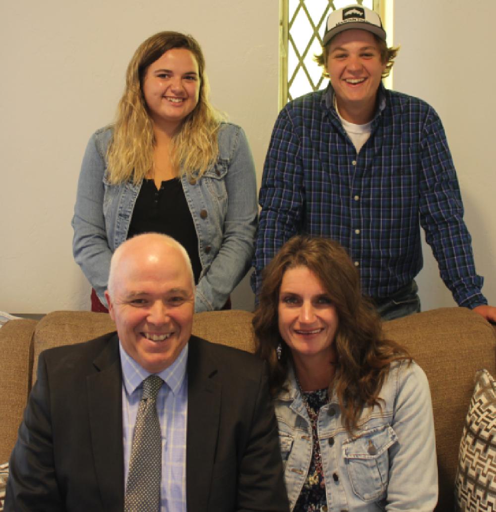 Pastor Steve, Carla, Landree and Micah Adams -
