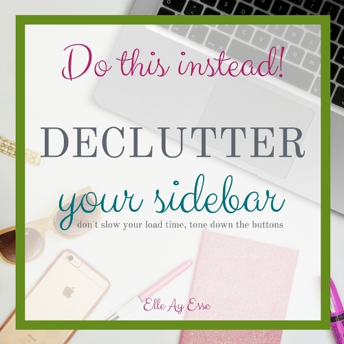 Declutter Your Sidebar