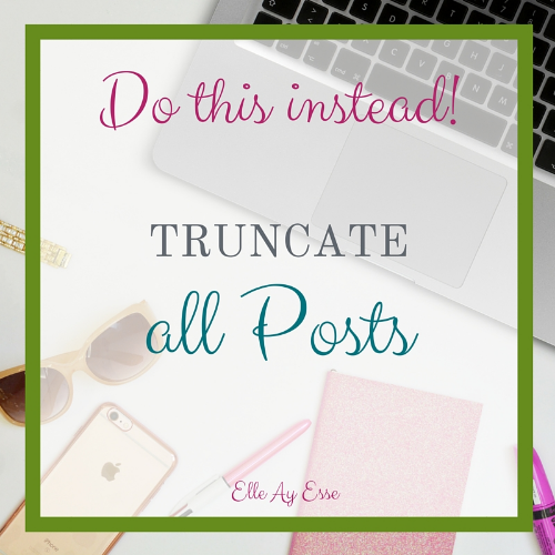 Truncate All Posts
