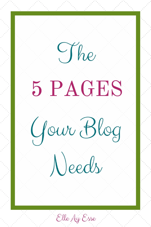 Blog pges are a necessary evil. In order to have ways for people to reach out and get in contact us,, to lead your readers exactly where you want them to go or just to have a place where you store your posts, every navigation bar needs at leas the following five pages. And here's why...