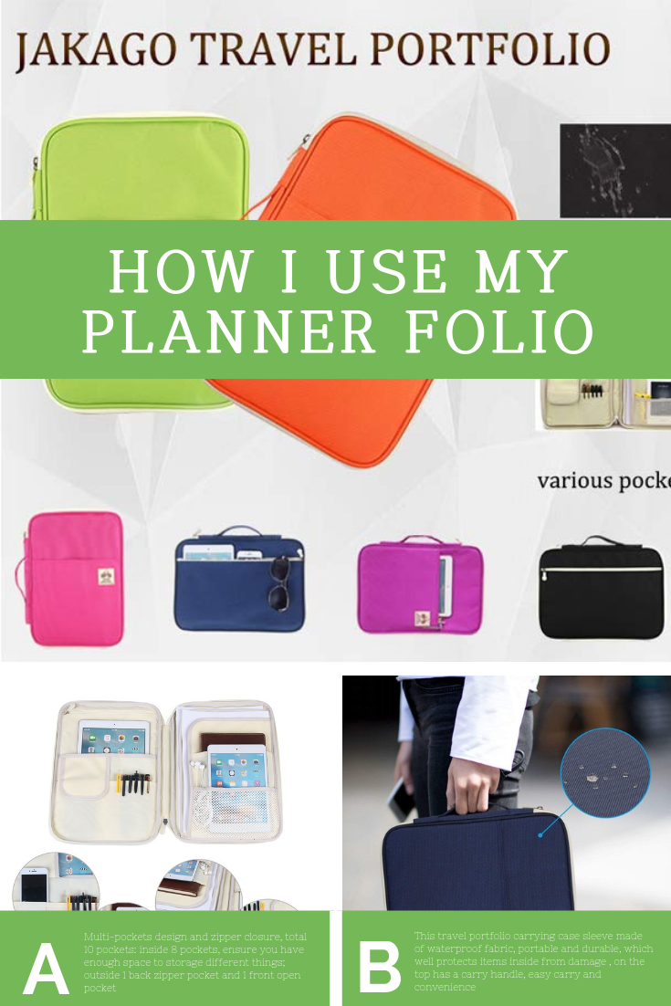 """If you've been hanging around my Insta, you've robably noticed a new """"face"""" in the background. My JAKAGO Business Padfolio.  What I wanted was a place that I could slide my planner and some planning tools, store the many papers I am presented with each day, hold lists, receipts and other nonsense and be able to close nicely and be tossed in a bag.  Since I am such a sucker for everything having it's own place, I wanted something equally simple and complex when it came to storage areas.  My JAKAGO more than delivered!  Since getting my hands on this one, I have also purchased a palm print folio from Yoobi that acts in a similar manner, holding my business stuff instead of my daily comings and goings."""