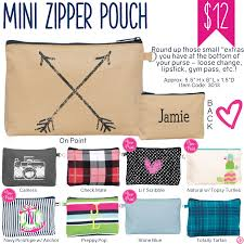 Thirty-One Mini Zipper Pouch
