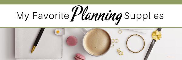 My Favorite Planning Supplies | elleayesse.com