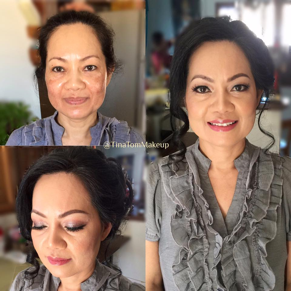 This sweet client's main concern was to cover the discoloration in her cheeks & to look fresh and awake. I think we did a great job without making her look cakey, wouldn't you guys agree?