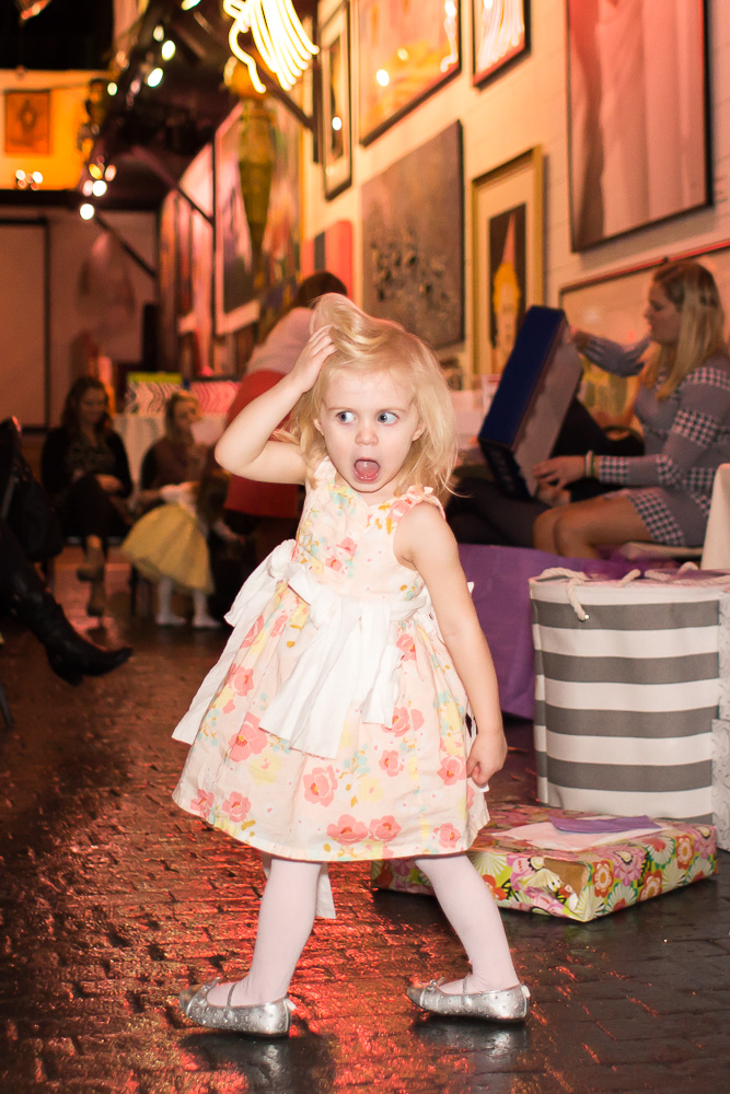 Flower girl having fun at Artisan Works