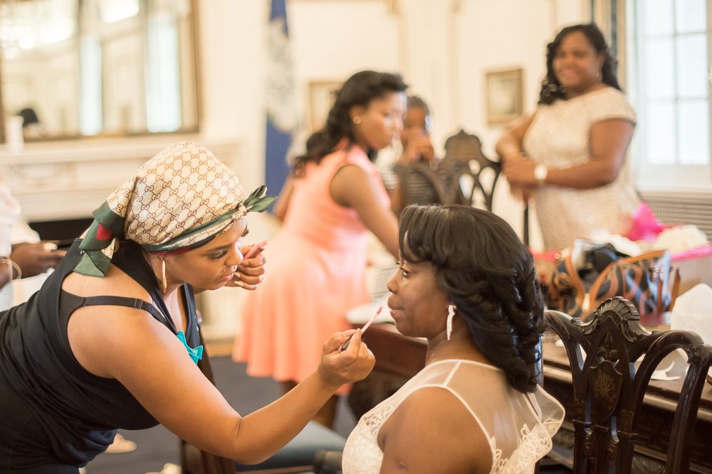 Wedding day prep at DAR Constitution Hall | Photojournalistic style wedding photography | DC Wedding Photographer | Megan Rei Photography