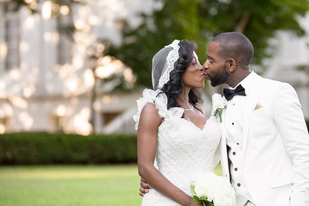 Romantic wedding photo at DAR Constitution Hall | Megan Rei Photography | Washington DC Wedding Photographer