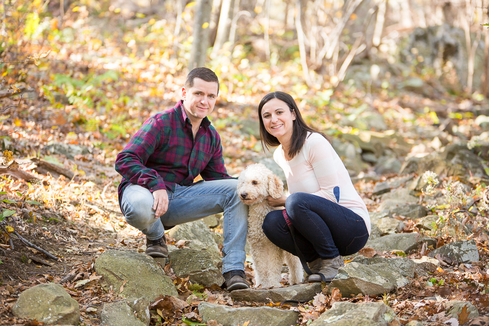 Fall engagement photos at Shenandoah National Park