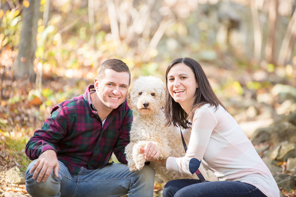 Engagement pictures with a dog, hiking in the mountains | Luray Engagement Photographer