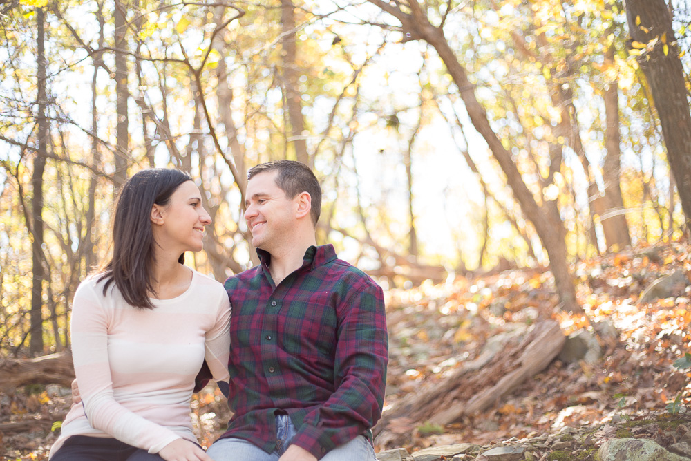 Candid hiking engagement in Luray, VA