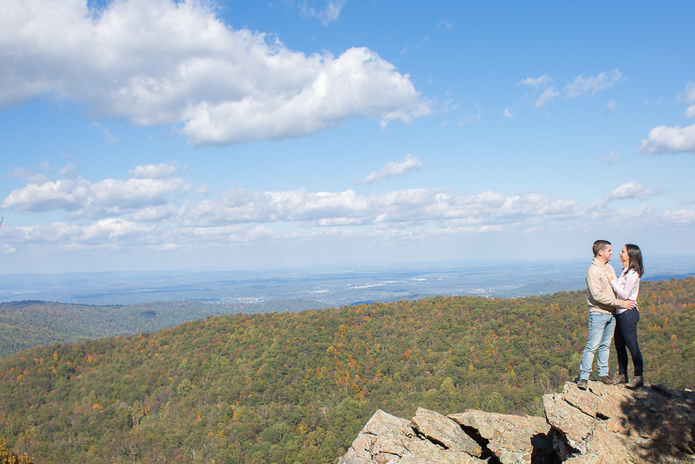 Engagement photography at Shenandoah National Park, Compton Peak hike | Shenandoah Wedding Photographer
