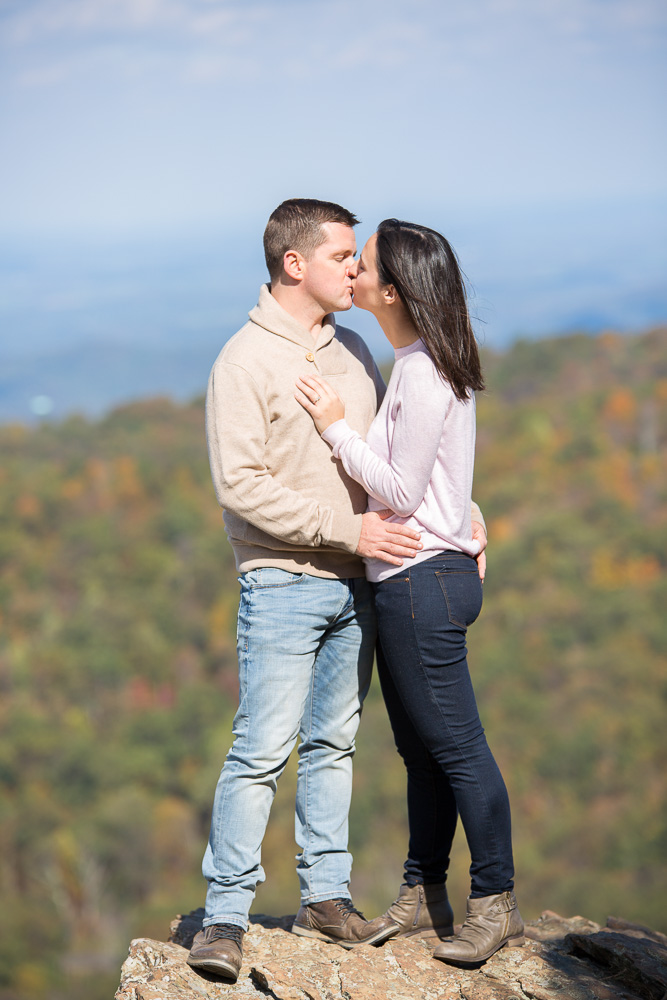 Engagement photos in the mountain at Shenandoah National Park in the fall