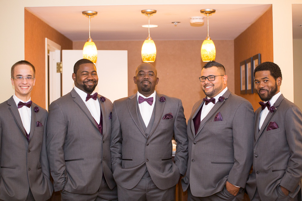 The groomsmen all ready for the wedding ceremony!  | Westfields Marriott Washington Dulles | Megan Rei Photography