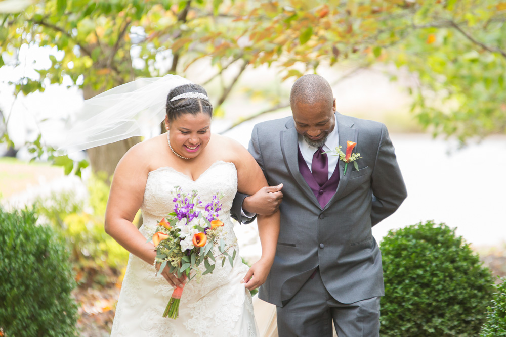 Walking down the aisle | Westfields Golf Club Wedding Ceremony | Megan Rei Photography