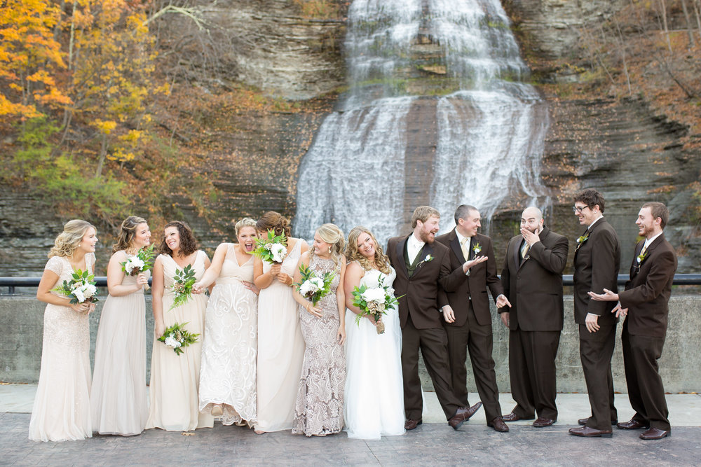 Shequaga Falls wedding pictures