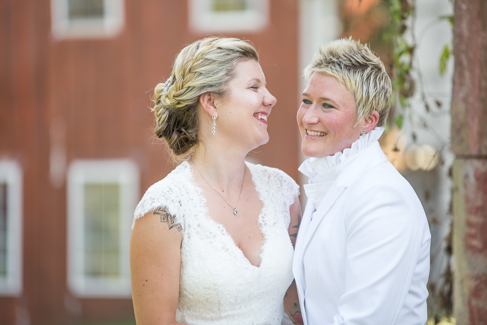 The biggest wedding day smiles! | DC LGBT wedding photographer | Megan Rei Photography