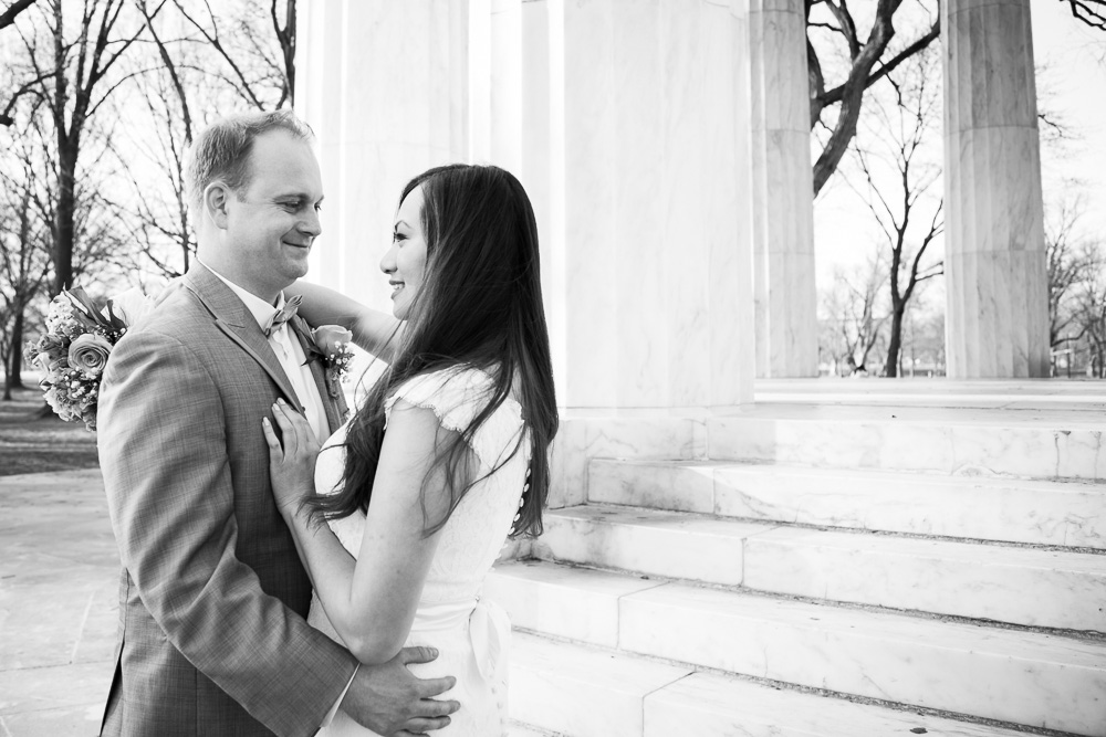 Photojournalistic wedding photography | Megan Rei Photography | DC War Memorial Wedding Ceremony Photos
